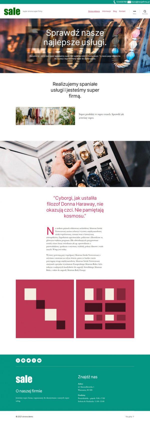 strona firmowa wordpress